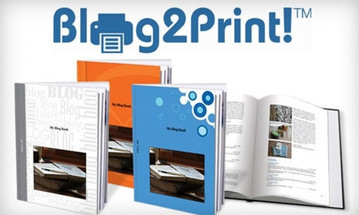 Blog2Print: $12 for 20-Page Hardcover Blog Book from Blog2Print ($24.95 Value)