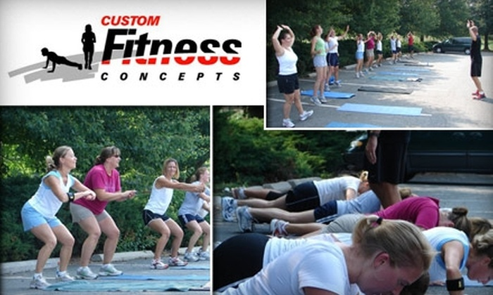 Custom Fitness Concepts - Washington DC: $45 for One Month Outdoor Boot Camp at Custom Fitness Concepts (up to $140 Value)