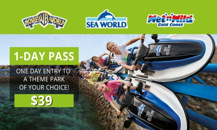 $39 for a 1Day Pass to Movie World, Sea World or Wet'n'Wild Gold Coast