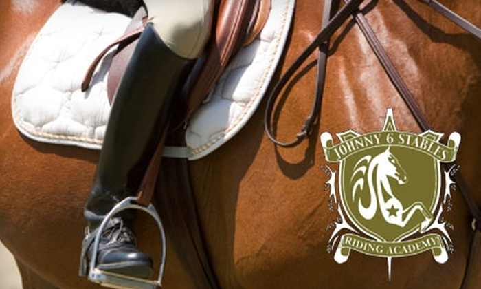 Johnny 6 Stables - San Jose: $70 for Four Horseback Riding Lessons at Johnny 6 Stables ($140 Value)