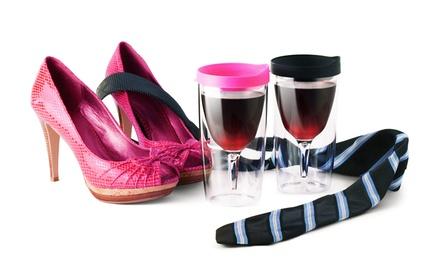 Ad-N-Art 2-Pack of Vino-2-Go Wine Glasses
