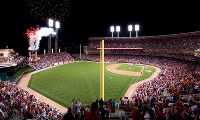 Cincinnati Reds - Central Business District: $44 for Two Cincinnati Reds Terrace Outfield Tickets, Two Reds Caps, and Two McDonald's Value Meal Vouchers ($86 Value). Three Games Available.
