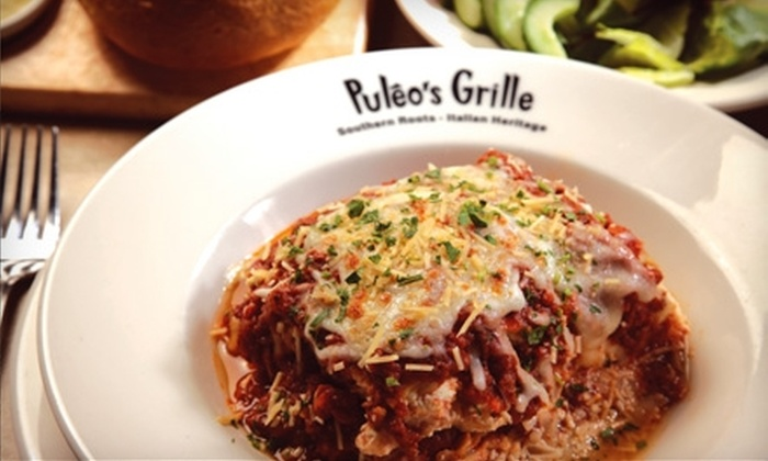 Puleo's Grille - Multiple Locations: $15 for $30 Worth of Southern and Italian Cuisine at Puleo's Grille