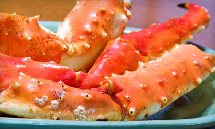 Caffe Regatta Oyster Bar & Grill - Pelham: Two Pounds of Alaskan King Crab Legs or Two Dozen Oysters with Champagne for Two at Caffe Regatta Oyster Bar & Grill in Pelham (Up to 64% Off)