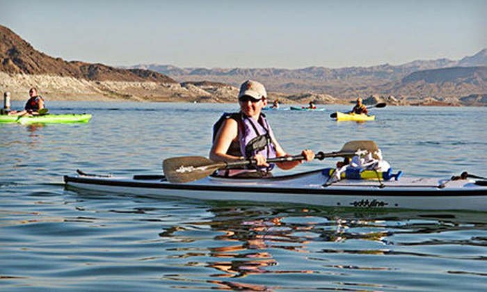 Desert Adventures - Boulder City: Full-Day Hot Springs Hike or Half-Day Lake Mead Kayaking Tour from Desert Adventures (Up to 53% Off)
