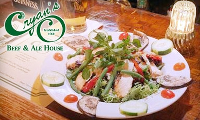 Cryan's Beef & Ale House - South Orange Village: $15 for $30 Worth of Irish Fare and Pours at Cryan's Beef & Ale House