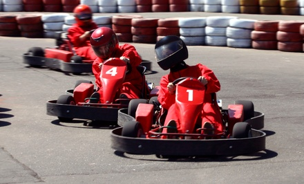 Two Kart Races for Two or Family Racing Package for Four at Extreme Indoor Kart Racing (Up to 38% Off)