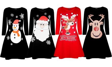 Be Jealous Women's Christmas Swing Dress
