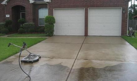 Sidewalk or Concrete Pressure Washing from Full Steam (55% Off)