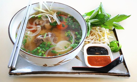 Vietnamese Dinner for Two or More, Valid Monday–Thursday or Any Day at Basilic Vietnamese Grill (40% Off)