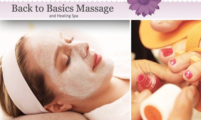 Back to Basics Massage - Quincy: $30 for Facial, Deluxe Pedicure, or Mani-Pedi Combo at Back to Basics Massage (Up to $100 value)