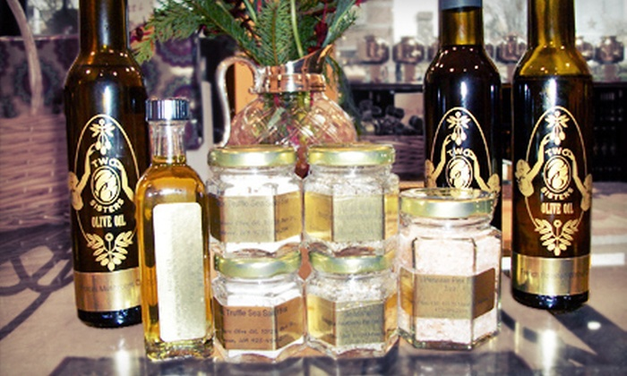 Two Sisters Olive Oil - Downtown Bellevue: Six-Bottle Oil-and-Vinegar Gift Set or $15 for $30 Worth of Gourmet Oils at Two Sisters Olive Oil in Bellevue. Complimentary Tasting for Two with Each Option.