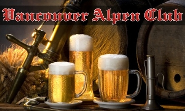Vancouver Alpen Club - Kensington-Cedar Cottage: $20 for One Ticket to the Cariboo Green Bay vs. Pittsburgh Party on February 6 at the Vancouver Alpen Club ($44 Value)
