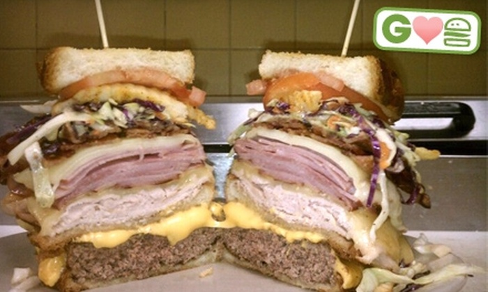Black Market - Clinton Township: $12 for $24 Worth of Exotic Burgers and Drinks at Black Market in Clinton Township