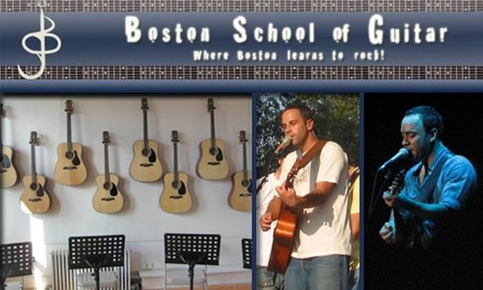 Boston School of Guitar - Brookline Village: $137 for 5 Private Guitar Lessons at Boston School of Guitar