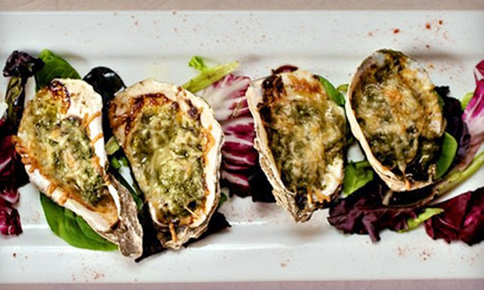 River's Inn Restaurant and Crab Deck - North Newport News: Seafood and New Orleans-Style Fine Dining at River's Inn Restaurant and Crab Deck in Gloucester Point (Half Off). Two Options Available.