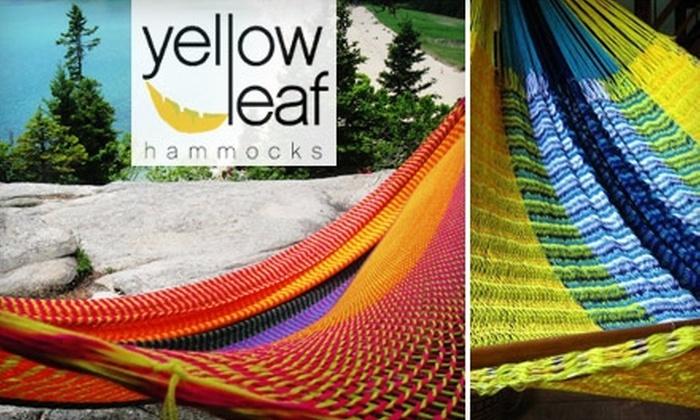 Yellow Leaf Hammocks - Cleveland: 40% Off at Yellow Leaf Hammocks. Choose from Six Hammock Options.