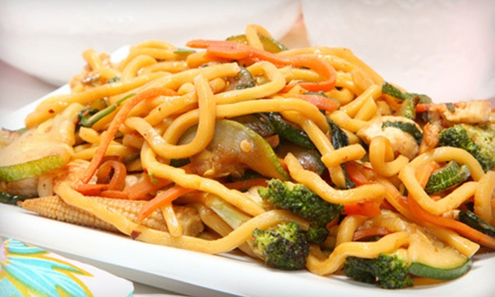 Jung's Mongolian Grill - West Eugene: $10 for $21 Worth of Make-Your-Own Mongolian Stir-Fry at Jung's Mongolian Grill. Two Options Available.