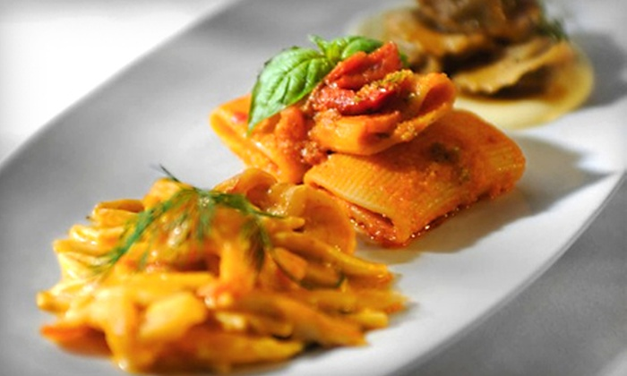 Salute! - Midtown South Central: $59 for a Two-Person, Three-Course Italian Meal Including Appetizers, Pasta, and Dessert at Salute! (Up to $118 Value)