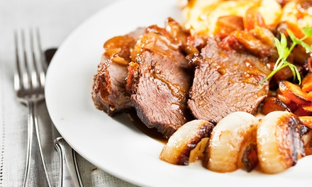 Carvery Dinner with Bottle of Wine for Two or Four at Britannia Hotel
