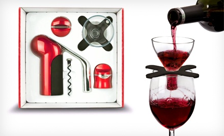 Houdini Wine-Accessories Gift Box: Black (a $66 value) - Houdini Wine Accessories Gift Set in