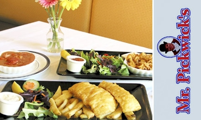 Mr. Pickwick's - Marpole: $4 for $10 Worth of Fish & Chips and More at Mr. Pickwick's