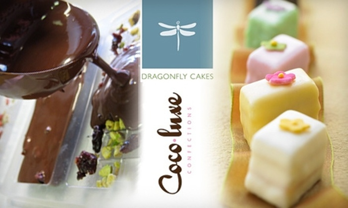 Dragonfly Cakes - Sausalito: $80 for a Build-Your-Own-Chocolate-Bar Class or a Petits Fours Class at Dragonfly Cakes in Sausalito ($160 Value)