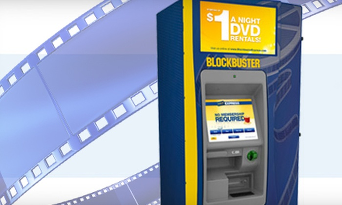 Blockbuster Express - Sioux Falls: $2 for Five One-Night DVD Rentals from Any Blockbuster Express ($5 Value)