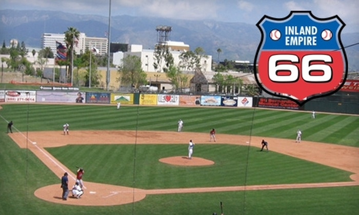 Inland Empire 66ers - Downtown San Bernardino: $40 for Four Executive Box-Seat Tickets, Program, PA/Video Board Welcome, Two Fun Zone Passes, and Free Parking to Inland Empire 66ers Baseball ($84 Value)
