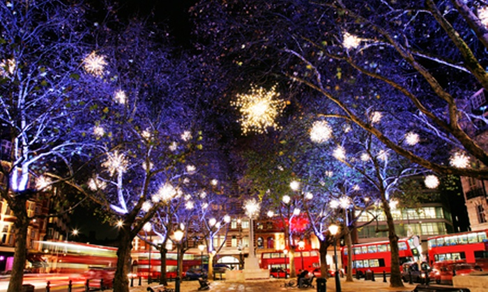 Premium Tours - London: Open-Top Christmas Lights Tour: Child (from £5) or Adult (from £10) Ticket (Up to 66% Off)