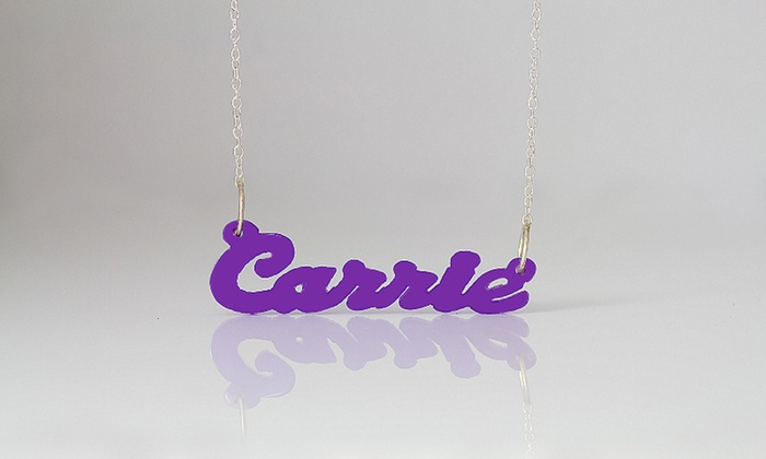 Monogramhub.com: $5 for an Acrylic Name Necklace from MonogramHub.com ($60 Value)