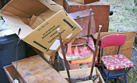 3 or 4 Cubic Yards of Junk Removal from Top Dog Removal Services (67% Off)