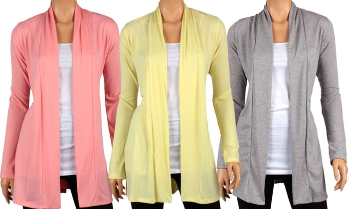 Women's Draped Spring Cardigans | Groupon Goods