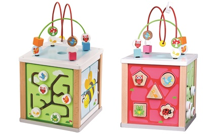 Lelin Wooden Activity Cube
