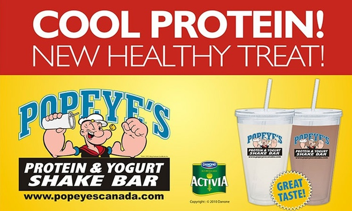 Popeye's Supplements - Multiple Locations: Two or Four Smoothies at Popeye's Supplements (50% Off)