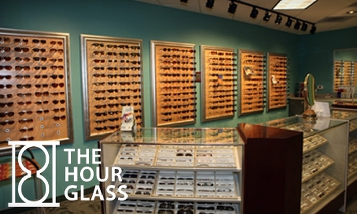 The Hour Glass - Multiple Locations: $40 for $100 Worth of Frames and Basic Lenses at The Hour Glass