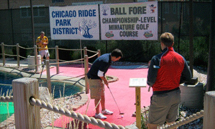 Chicago Ridge Park District - Worth: Mini Golf Package for Two or Four at Ball Fore in Worth