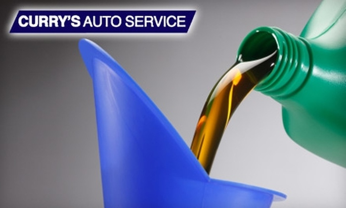 Curry's Auto Service - Multiple Locations: $17 for One Oil Change, Oil Filter Service, and Tire Rotation at Curry's Auto Service ($34.89 Value)