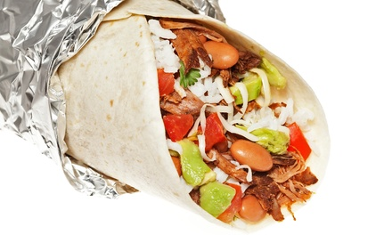 $16 for Two Groupons, Each Good for $15 Worth of Burritos and Tacos at Baja Burrito ($30 Value)