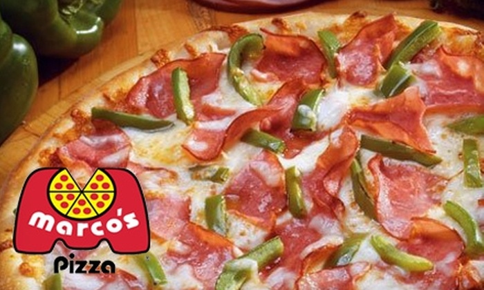 Marco's Pizza - Pittsfield: $9 for an Extra-Large Pizza with Up to Five Toppings from Marco's Pizza (up to a $20 Value)