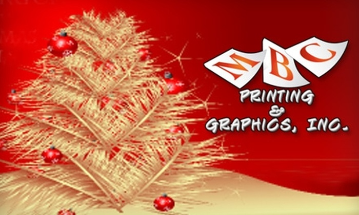 MBC Printing, Inc. - Glencliff: $30 for 50 Customized Holiday Greeting Cards and More from MBC Printing, Inc. ($70 Value)