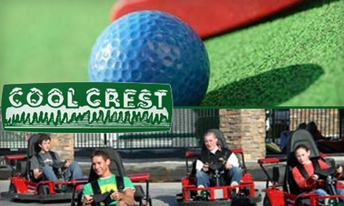 Cool Crest - Ashland Ridge: $8 for a Three-Attraction Pass for Go-Karts and Mini Golf at Cool Crest in Independence ($15.99 Value)