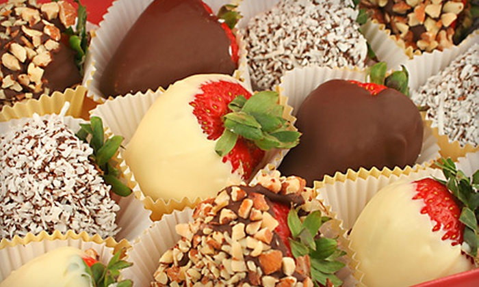 Say it with Strawberries - Burlington Area Neighborhood Association: $20 for 12 Chocolate-Dipped Strawberries from Say It with Strawberries (Up to $60 Value)