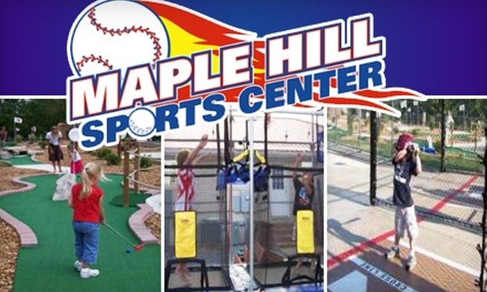 Maple Hill Sports Center - Lebanon: $20 for Unlimited All-Day Mini Golf, Aeroball, and Batting-Cage Rounds for Two People at Maple Hill Sports Center in Lebanon ($44 Value)