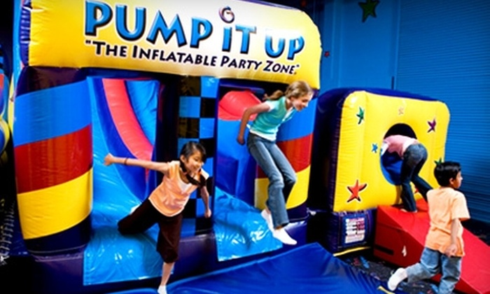 Pump It Up - Hamilton: $13 for Three Pop-In Playtimes at Pump It Up in Hamilton ($27 Value)