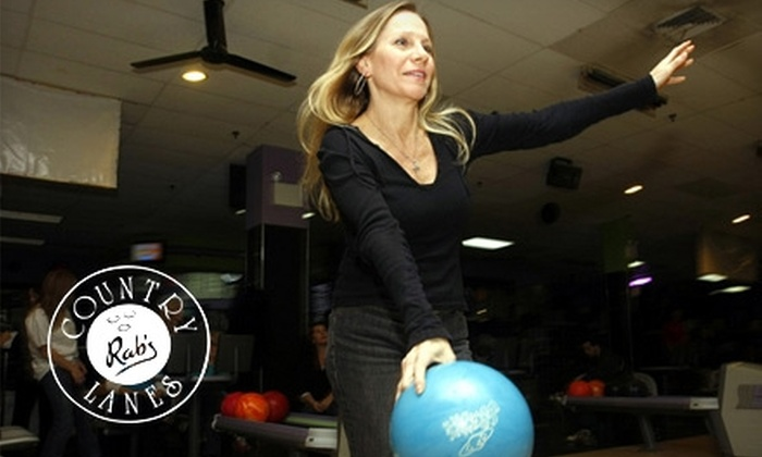Rab's Country Lanes - South Beach / Old Town: $20 for One Hour of Open Bowling, Shoe Rental, and Laser-Maze Admission for Up to Six People at Rab's Country Lanes in Staten Island