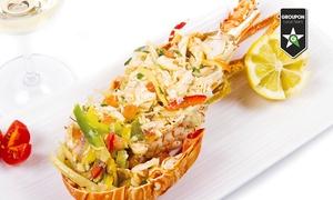 Caffè Duomo: Menu di pesce da 59,90 € con astice alla catalana e calice o bottiglia di vino