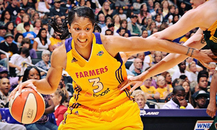 Los Angeles Sparks - Downtown Los Angeles: Los Angeles Sparks WNBA Game at Staples Center on September 18 or 20 (Up to 54% Off). Two Lower-Level Seating Options Available.