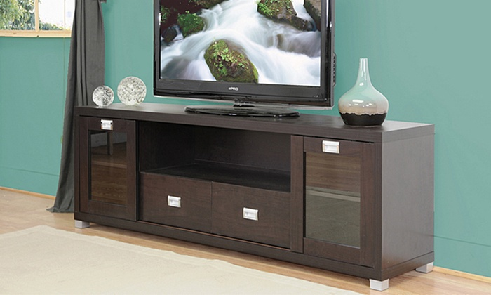 Baxton Studio Gosford Dark Brown Wood Modern Tv Stand