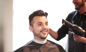 Cinta Aveda Institute: One or Two Men's Haircuts with Optional Hot Towels and Shaves at Cinta Aveda Institute (Up to 56% Off)